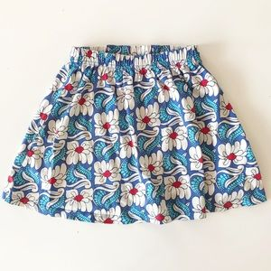 Hanna Andersson Girls' Blue Flower Skirt